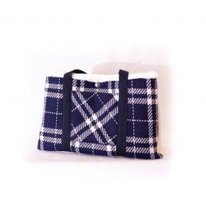 sac at rayé bleu & blanc