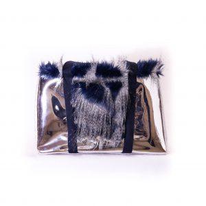 sac at argenté et bleu