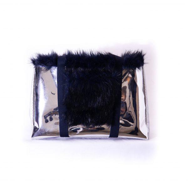 sac at argenté noir