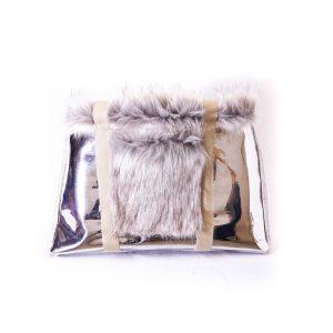 sac argenté gris